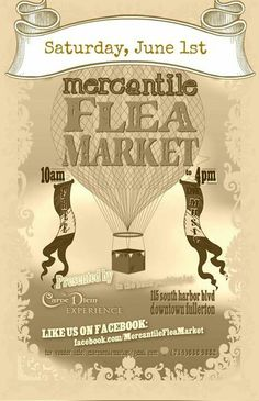 All Hallows Eve will be selling at the Mercantile Flea Market in Downtown Fullerton this Saturday...