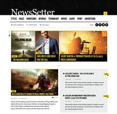 Great Wordpress news theme. A real quality design.