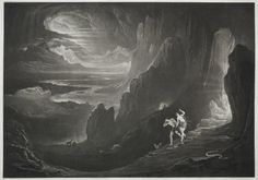 """""""Paradise Lost. Adam and Eve Driven out of Paradise"""" by John Martin (1789-1854, United Kingdom)"""