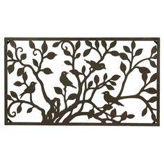 Foreside Home & Garden Metal Birds On A Tree Horizontal Wall Art - Bronze, Bronze Cloud