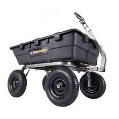 Gorilla 1 500 Lb Capacity Super Heavy Duty Poly Dump Cart With 10 Cu Ft Bed Gor10 16 In 2020 Dump Cart Yard Cart Dumped