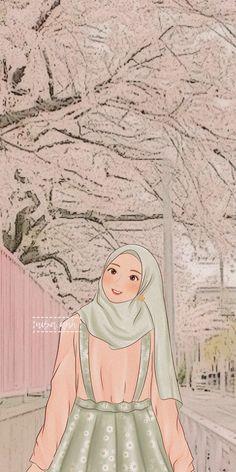 Cute Emoji Wallpaper, Cartoon Wallpaper Iphone, Cute Cartoon Wallpapers, Girl Cartoon, Cartoon Art, Hijab Cartoon, Muslim Girls, Aesthetic Wallpapers, Kawaii