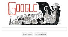 Google Doodle Bram Stokers 165th Birth Anniversary, Draculas father!