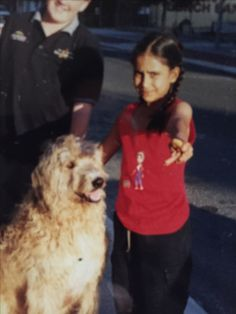 Little me with my favourite doggie
