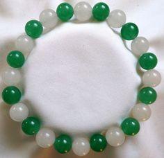 Jade Aventurin Heilstein Perlen Armband