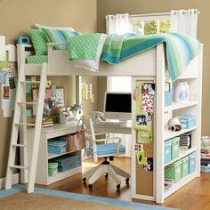 modern loft beds for teens   Kid-room-designs   Interieur Design, innendesign, Decoration ideas ...