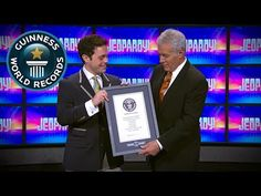 """JEOPARDY!'s Alex Trebek Sets Guinness World Records Title. Most game shows hosted....George Alexander """"Alex"""" Trebek (/trɨˈbɛk/; born July 22, 1940) is a Canadian-American television personality and actor. He has been the host of the syndicated game show Jeopardy! since 1984, and has also hosted a number of other game shows, including The Wizard of Odds, Double Dare, High Rollers, Battlestars, Classic Concentration and To Tell the Truth. Trebek has made appearances in numerous television…"""