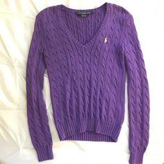 RALPH LAUREN sport purple ribknit sweater Like new! Ralph Lauren Sweaters Crew & Scoop Necks
