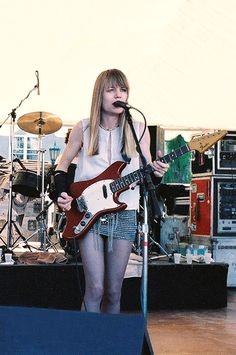 Tina Weymouth from Talking Heads and Tom Tom Club playing her Fender Arrow/Swinger