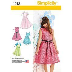 Simplicity Children's Dress Sewing Pattern, 1213
