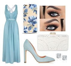 Formal - Pastel Blue by chameleonofdoom on Polyvore featuring polyvore, fashion, style, Uttam Boutique, Rupert Sanderson, BCBGMAXAZRIA, Sonix, clothing, Prom and formal