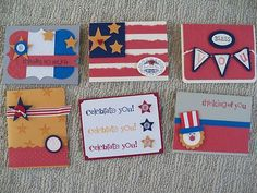 Thank Bless You July 4th Military Hero Card Made w Stampin' Up Cardstock | eBay