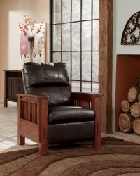 ASHL-1990126 Ashley Santa Fe Mission High Leg Recliner - Chocolate