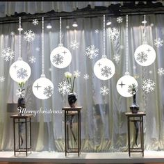 high quality 2017 New year Happy Christmas Snowflake Window Stickers for Bedroom Living Room Wall stickers Home Decor Christmas Window Stickers, Wall Stickers Window, Christmas Window Decorations, Christmas Window Display, Wall Stickers Home Decor, Window Wall, Painted Windows For Christmas, Wall Vinyl, Wall Decal