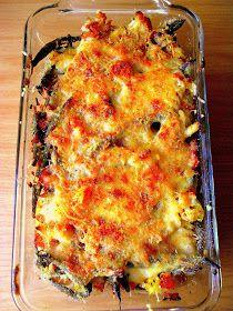 Lekcje w kuchni: Zapiekanka z szynką i fasolką szparagową pod chrupiącą kołderką Lasagna, Chili, Ethnic Recipes, Food, Chile, Essen, Meals, Chilis, Yemek