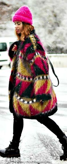 Street style fashion / karen cox. Winter Warm.