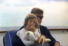 "ST-C281-31-63. President John F. Kennedy and Caroline Kennedy Aboard the ""Honey Fitz"" - John F. Kennedy Presidential Library & Museum"