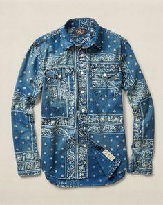 Bandanna Cotton Workshirt - RRL Standard-Fit - RalphLauren.com