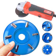 6 Teeth Power Wood Carving Disc Tool Milling Cutter – roarwild Precautions Before Use: Choose a premium-quality angle grinder, preferably with a handle, do not remove the protective cover Keep your hands tight when y Power Carving Tools, Wood Carving Tools, Wood Tools, Diy Tools, Wood Carvings, Bois Diy, Angle Grinder, Homemade Tools, Garage Workshop