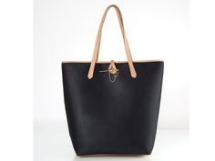 BLANCA JERSEY BLACK HANDBAG Tote bag made of jersey textile with neat leather details and strap. Proposing an elegant & solid identity