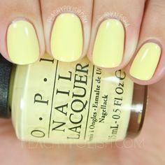 Super nails yellow pastel shades Ideas - All For Hair Color Trending Yellow Toe Nails, Yellow Nail Polish, Mauve Nails, Neutral Nails, Opi Nails, Nail Polish Colors, Manicure, Polish Nails, Nail Polishes