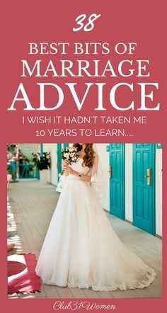 LOVE this list! What a beautiful and honest list of advice gathered over many years of marriage! ~ Club331Women