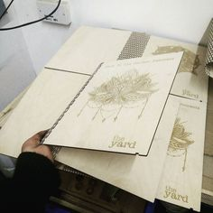 Laser cut & engraved menu covers for the @yardontheedge . Using kerf fold & custom design #drawnbythelight #laserengraved #lasercutting #bespoke #instagood #photooftheday #logo ##menu #mandala #art #love #ilustration #restaurant #woodwork #wood #manchester by drawnbythelight