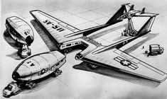Nuclear aircraft with detachable reactor.