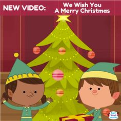 "It's the classic Christmas carol ""We Wish You A Merry Christmas"" with an action verb twist. From Super Simple Learning."