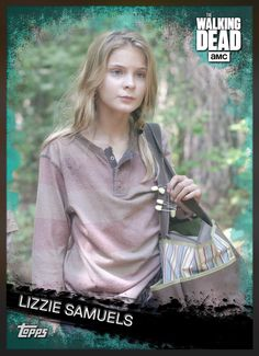 Lizzie Samuels (Teal Parallel) Insert Card The Walking Dead 2016 Topps