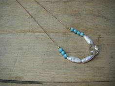 turquoise and pearls - jewelry by jamie shea