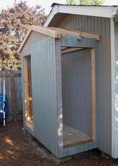 Pergola Design shed Lavabo Exterior, Outside Storage, Outdoor Storage, Lean To Shed, Garage Shed, Garage House, Car Garage, Shed Doors, Backyard Sheds