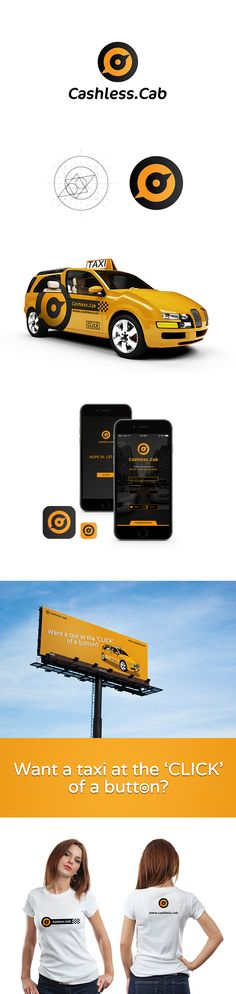 The Cashless.cab identity included a distinct yet simple logo mark, which used rich colours instead of dated taxi yellow tones. These warmer tones reflect a hospitable service, which is optimistic, confident, friendly, fun and provides physical comfort. Our Creative direction also resulted in designs for vehicle branding, apparel design, advertising design and app UI design.