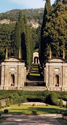 The gardens at Villa d'Este, Lake Como, Italy