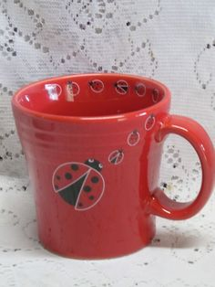 Fiesta® Dinnerware LADYBUG Tapered Mugs   WorthPoint   Fiesta® / Homer Laughlin China Limited Edition Decorated and Novelty Items   Pinterest   Fiestas ... & Fiesta® Dinnerware LADYBUG Tapered Mugs   WorthPoint   Fiesta ...