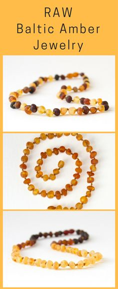 Authentic Raw Unpolished Baltic Amber Infant/Children/Adult Jewelry - Necklace, Bracelet & Anklet #amber #amberjewelry #infantteething #adultamber #balticamber | https://www.etsy.com/shop/HippieHoopla/