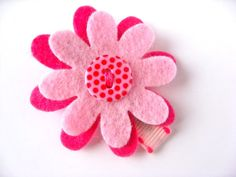 Spring Collection  Pink Flower Clip
