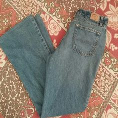 """Hydraulic Jeans in a Distressed Finish Lighter wash with a pinkish tinge. Hemmed to a 30"""" inseam. 33"""" waist. 10"""" front rise, 20"""" leg opening.  All measurements are approximate. Hydraulic Jeans Flare & Wide Leg"""