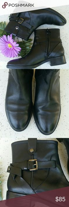 GEOX BLACK D FELICITY ANKLE BOOTS In like new condition.  Black. European  Size 35. They have a minimal scratch in front. Geox Shoes Ankle Boots & Booties