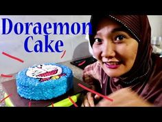 Cara Menghias Kue Doraemon - DORAEMON CAKE WITH BUTTERCREAM - YouTube