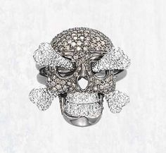 , Lydia Courteille, A Coloured Diamond 'Skull' Ring