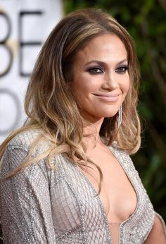 Golden Globes 2015 Celebrity Hairstyles and Makeup: Jennifer Lopez  #hair #hairstyles