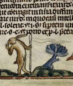 Rabbit, are you pole-dancing? | 44 Medieval Beasts That Cannot Even Handle It Right Now