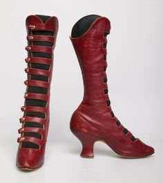 19th Century Blog | Gorgeous, knee-length boots - Chicago History...