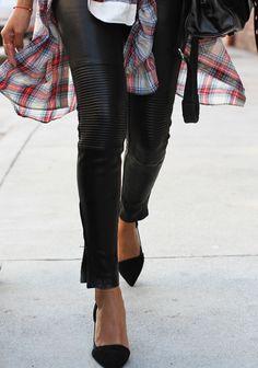 Pantalones de cuero de J Brand
