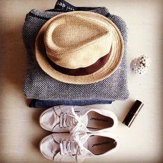 #spring #style ☀️💕🍋 #styleblogger #luxe #tomboy #pretty #superga #marcjacob #vintagetrilby #gap #boyfriend #denim