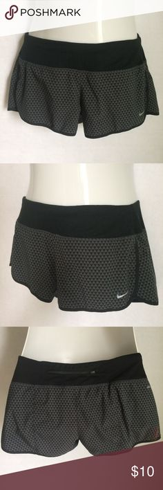 """✨NEW Listing✨Nike Dri-Fit running shorts *see desc Nike lightweight Dri-Fit running shorts with all over black/grey triangle. """"Breeze through some miles in these lightweight running shorts crafted from moisture-wicking Dri-FIT fabric that keeps you cool a"""