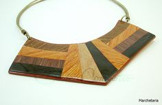 Faux wood grain marquetery made from polymer clay. Marchetaria (Bozzi Super Polymer Clay)  by Beatriz Cominatto, via Flickr