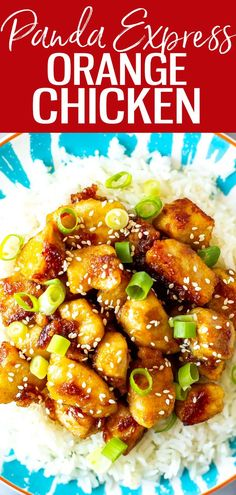 This Panda Express Orange Chicken consists of crispy chicken tossed in a sweet and spicy orange sauce. It's super easy to make at home! #pandaexpress #orangechicken Ww Recipes, Clean Recipes, Chicken Recipes, Cooking Recipes, Healthy Recipes, Panda Express Orange Chicken, Winner Winner Chicken Dinner, Crispy Chicken, Sweet And Spicy