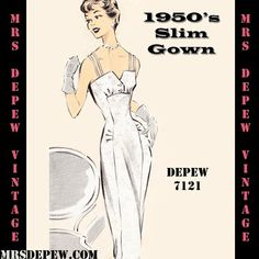 Vintage Sewing Pattern 1950's Cocktail or Wedding by Mrsdepew, $9.50